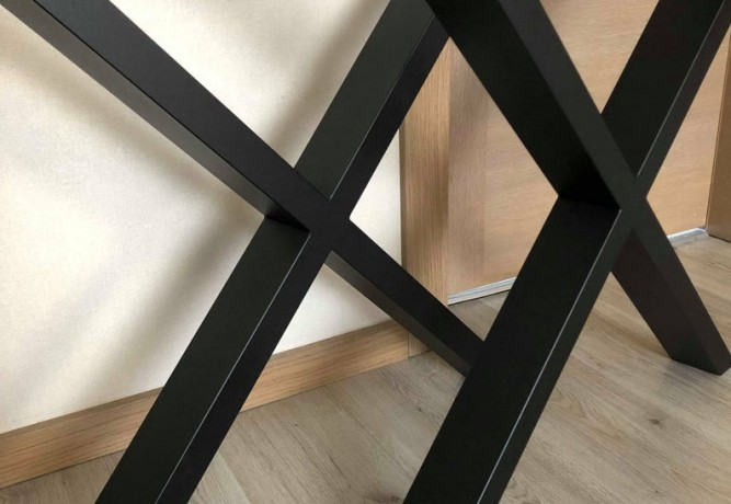 Metall bord ben X-design 800mm