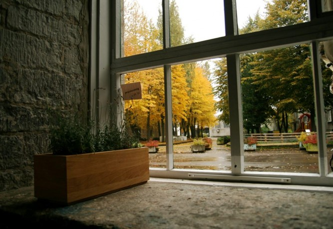 Puiset kukka-amppelit Squarebox Natur