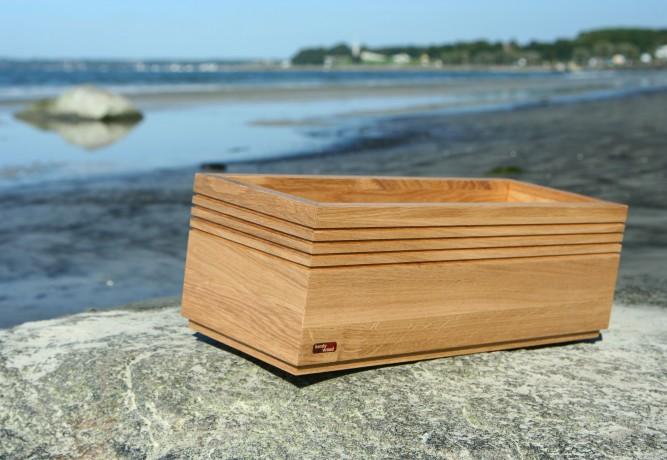 Oak woodplanter Squarebox Natur