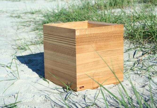 Puiset kukka-amppelit Flooring Cube Natur
